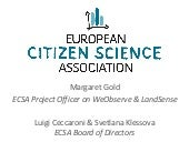 Introduction to the European Citizen Science Association