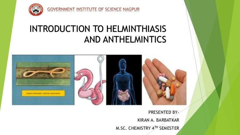 define helminthiasis