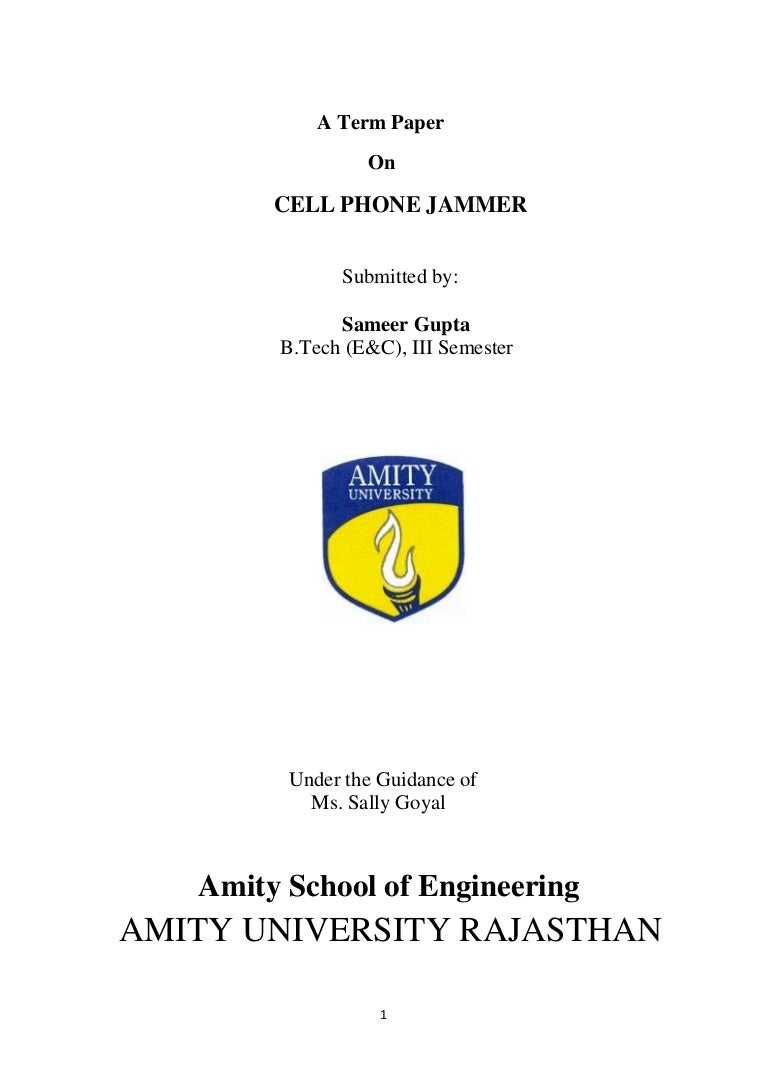 Cell Phone Jammer Report Electronic Circuit