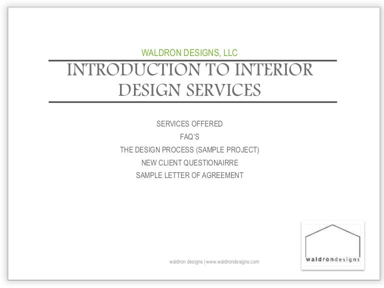 Letter Of Agreement Interior Design