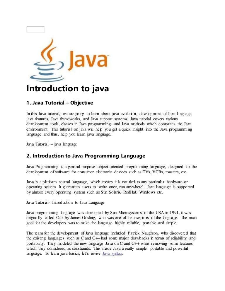 Java logos.