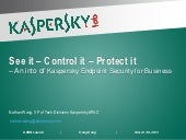 Introduction to Kaspersky Endpoint Security for Businesss