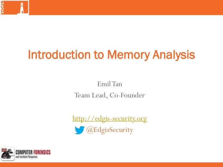 Introduction to Memory Analysis