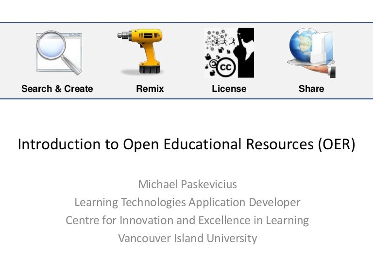 Introduction to open educational resources oer fandeluxe Images