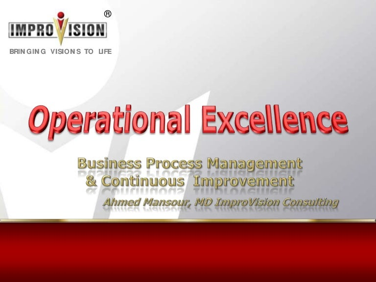 Introduction To Operational Excellence