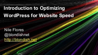 Introduction to Optimizing WordPress for Website Speed