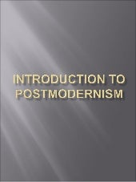 globalisation modernity postmodernity essay
