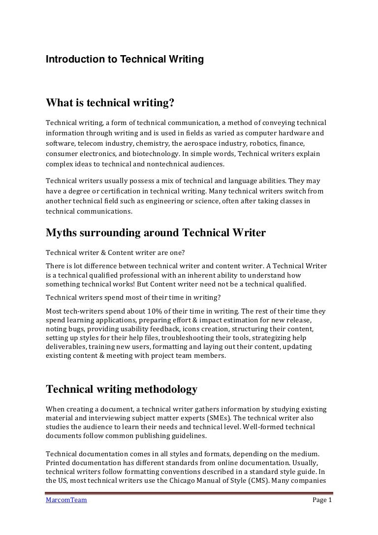 Introduction to technical writing xflitez Choice Image