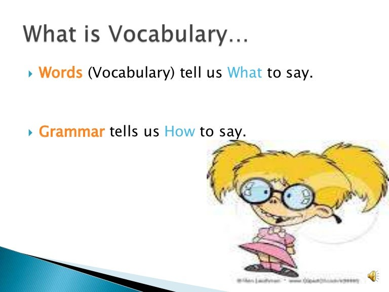 Introduction to vocabulary ppt.