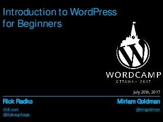 Introduction to WordPress for Beginners