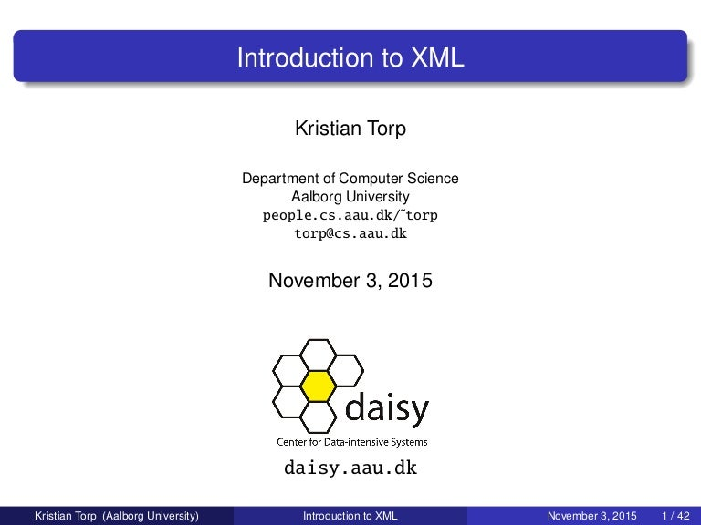 Introduction To Xml And Databases