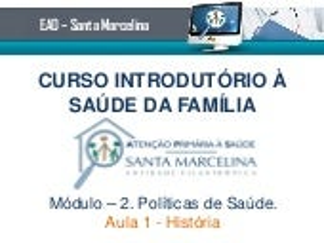 Curso Introduorio ESF - Conteudo teorico modulo 2 - Aula 1