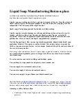 liquid soap manufacturing business plan