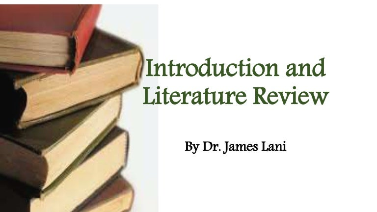 Introduction  Literature Review Webinar