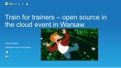 Train for trainers event in Warsaw / Intro
