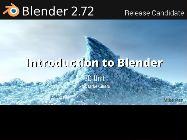 Introduction to blender
