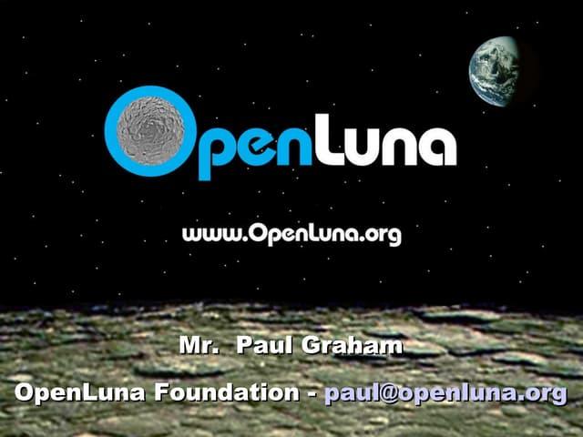 Intro To Open Luna