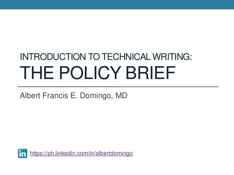 Introduction to technical writing the policy brief pronofoot35fo Images