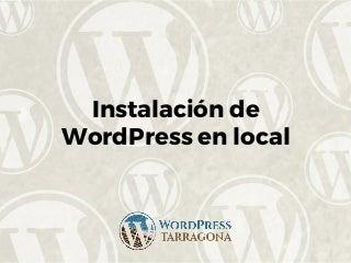 Intsalacion de word_press_en_local