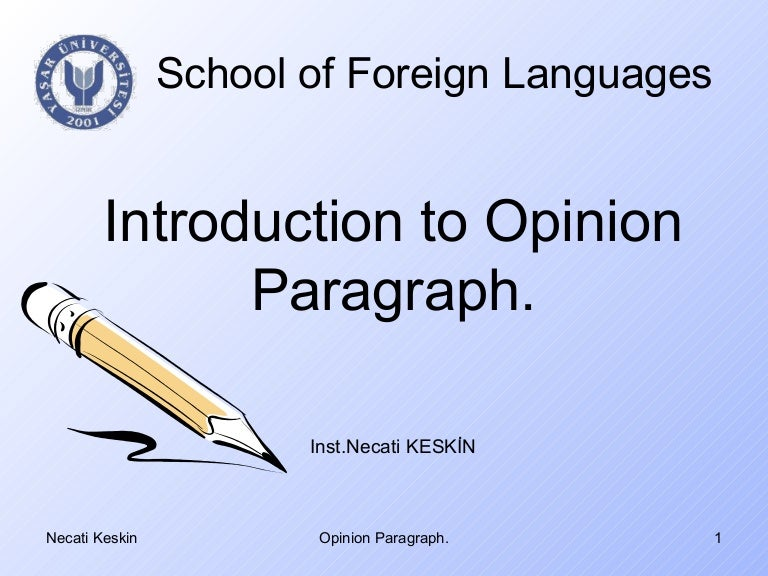 How to Write an Opinion Essay - PowerPoint PPT Presentation