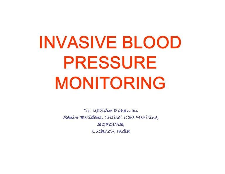 Vanderbilt Resume Builder Invasive Blood Pressure Monitoring