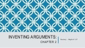 Inventing argument chapter 2 lecture