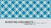 Inventing argument chapter 3 logic lecture