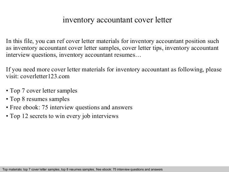 Inventory accountant cover letter