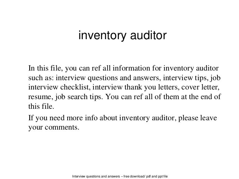 Inventory Auditor Sample Resume. Unforgettable Night Auditor