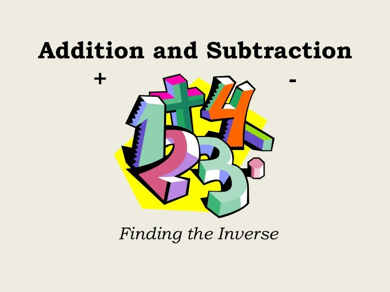 relationship between addition & subtraction