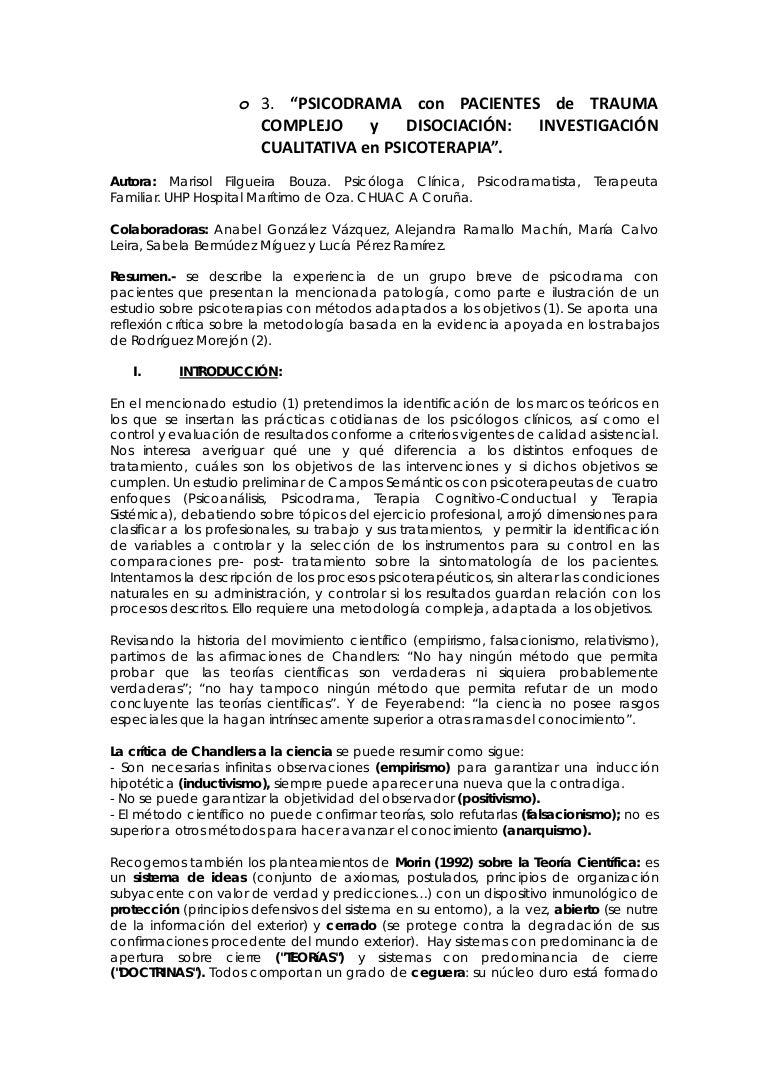 Investigacion cualitativa PSICODRAMA