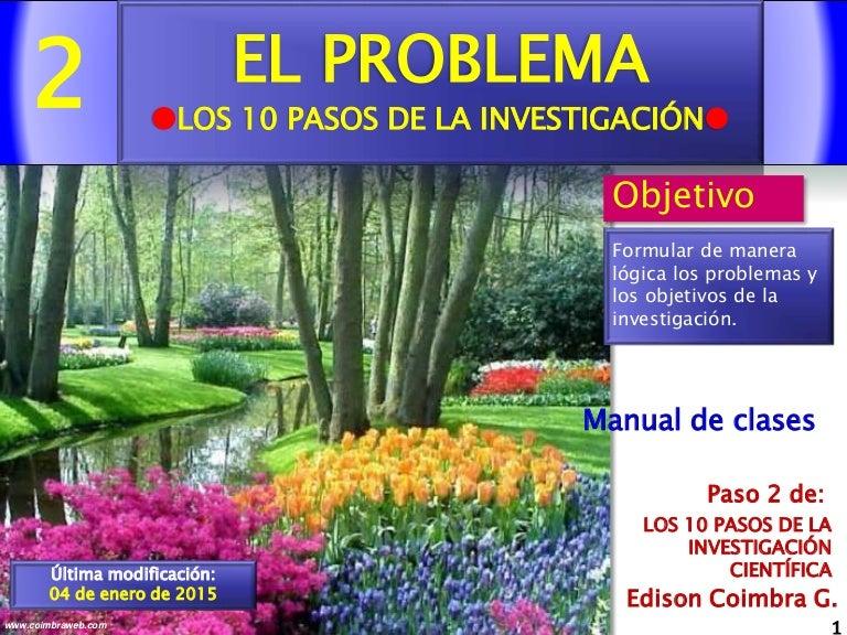 2.El problema. Paso 2 de la Investigacion