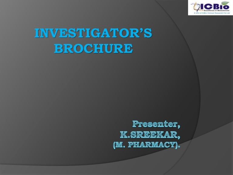 InvestigatorS Brochure