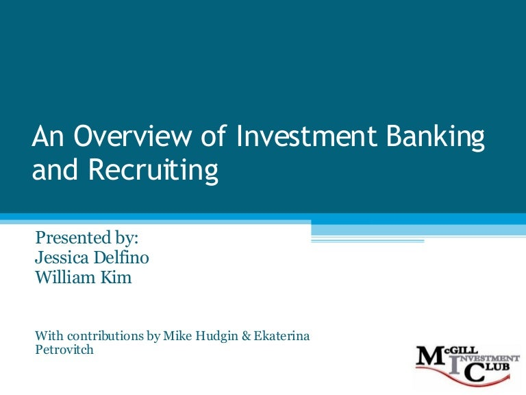 Investment Banking  F