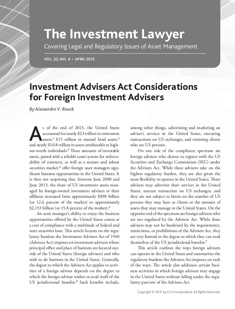 Cryptocurrency investment advisor act