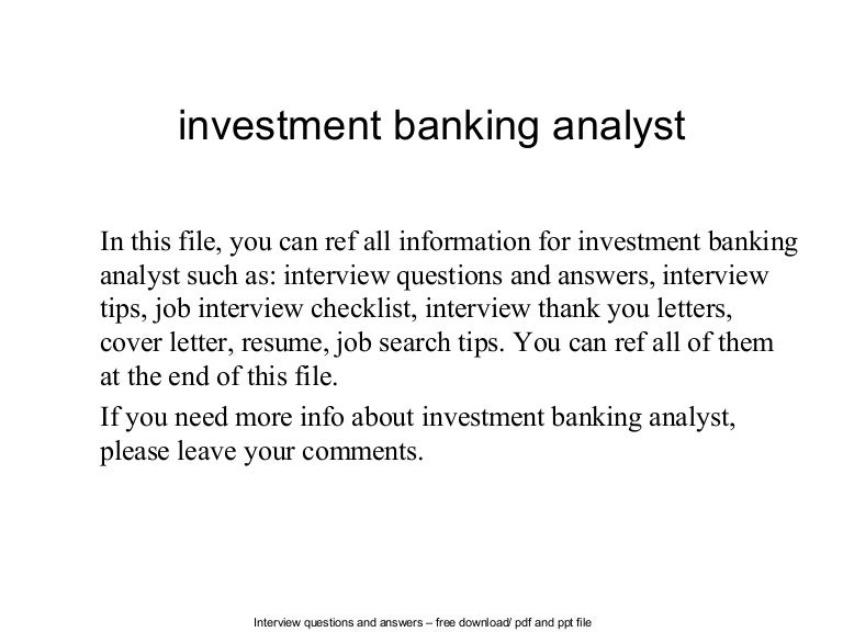 cover letter for investment banking