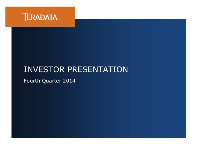 Investor Presentation Q4 2014