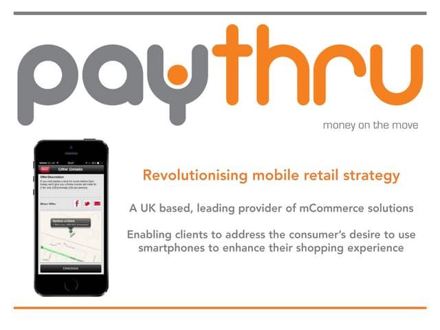 Investor presentation Paythru  March 2015