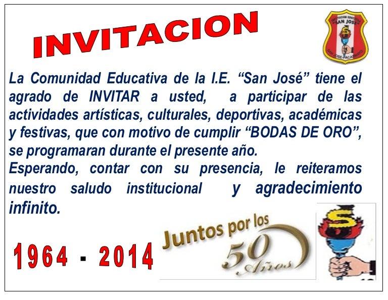 Invitacion A Bodas De Oro