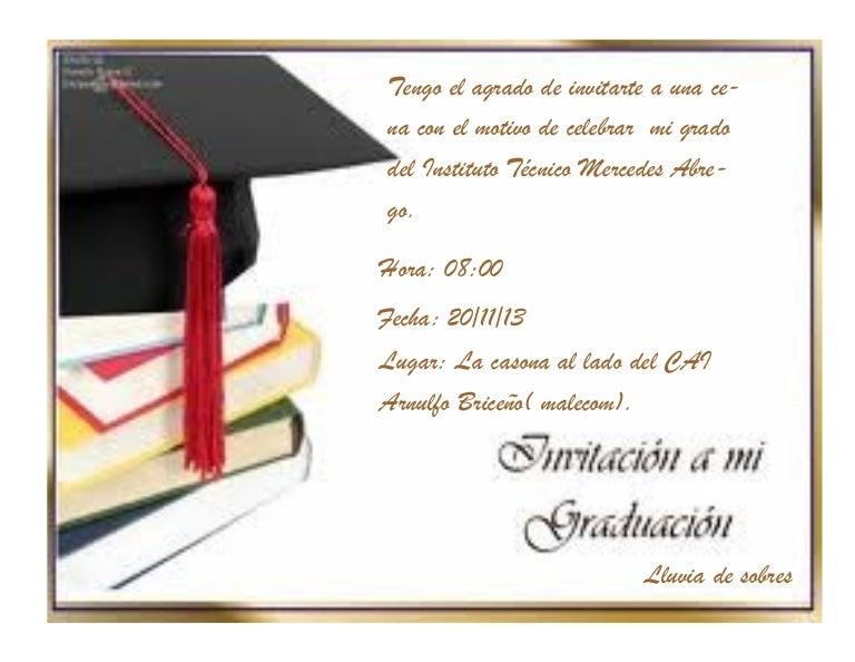 invitacion de grado