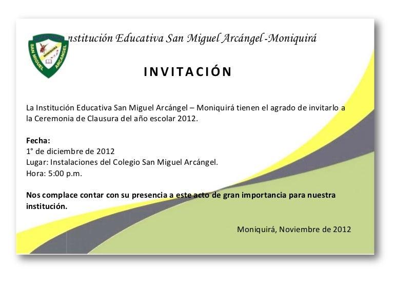 Ejemplo De Tarjeta De Invitacion