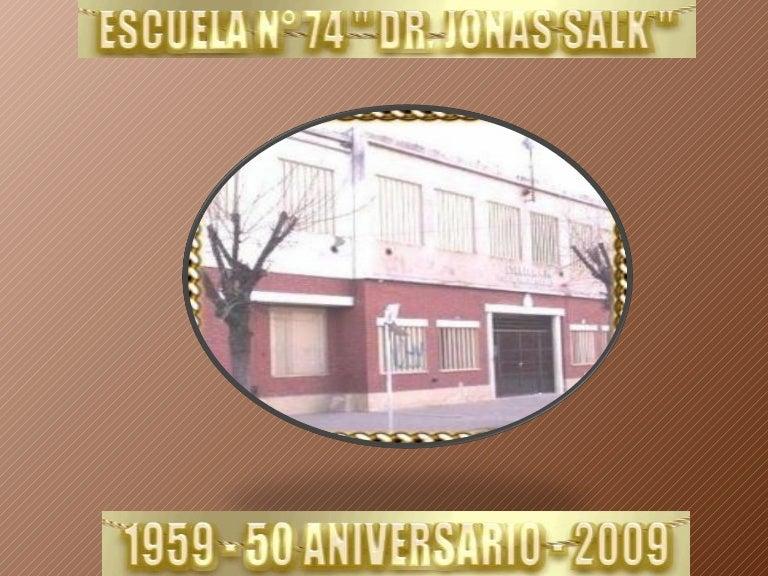 Invitacion Fiesta Aniversario Escuela 74 Jonas Salk