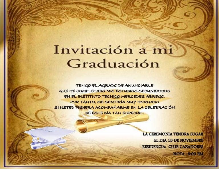Invitacion Grado