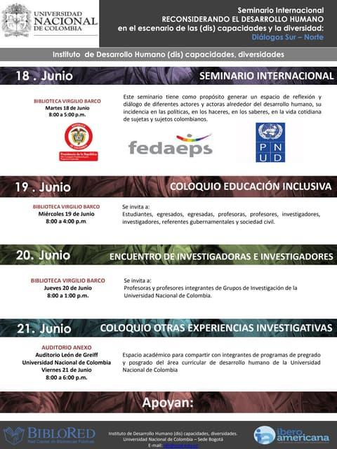 Invitacion y programa seminario internacional