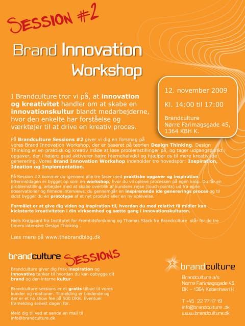 Invitation Brandculture Session #2
