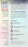 IHC Education Summit 2013 Invitation