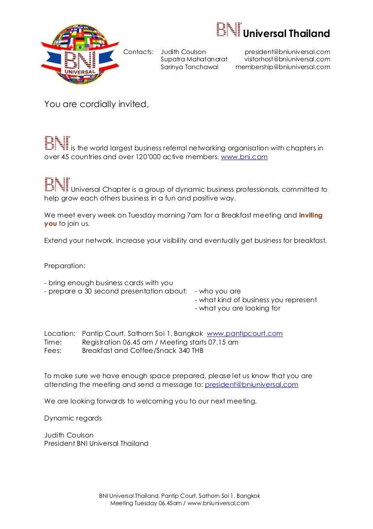 Business invitation letter sample ideas business trip invitation letter slideshare stopboris Image collections