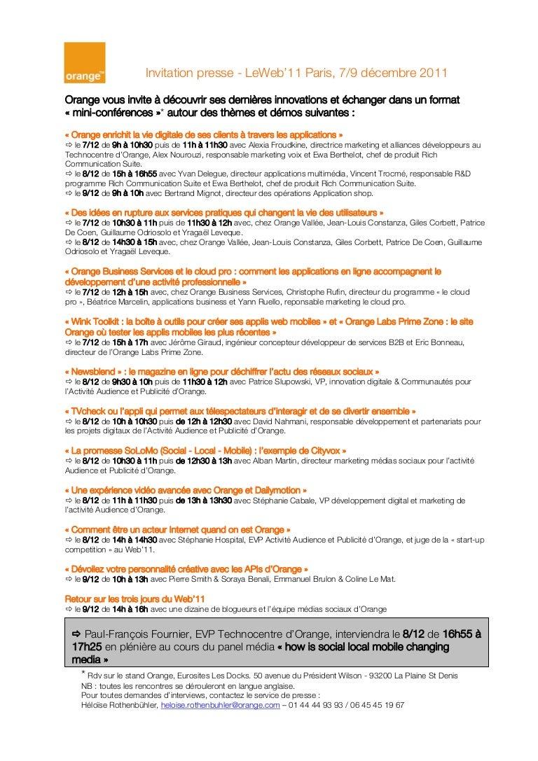 Orange Invitation Presse Leweb 11