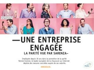 Une entreprise engagée, la parité vue par Sarenza