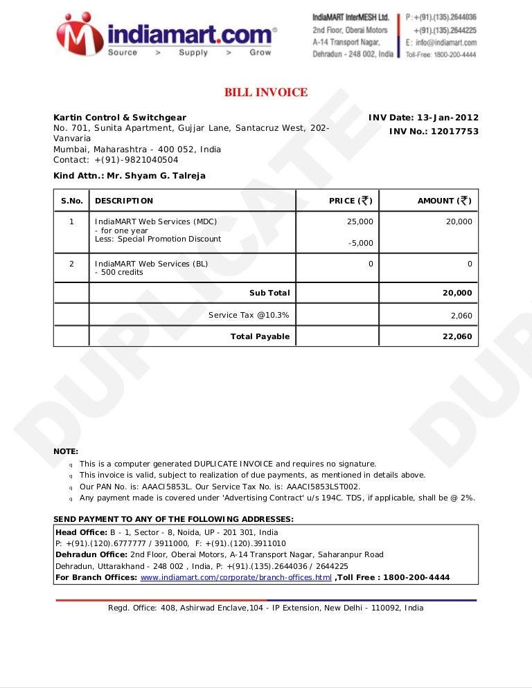 Invoice 12017753
